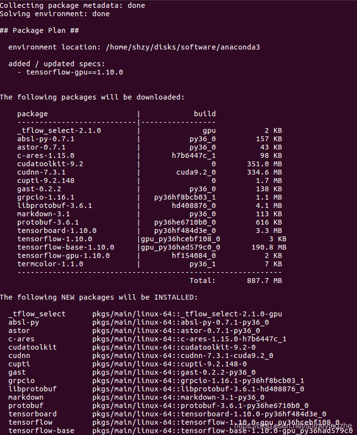 Ubuntu16 4中使用anaconda安装TensorFlow-GPU 的简便方法- shiheyingzhe