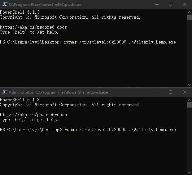 在两个 PowerShell 中运行命令