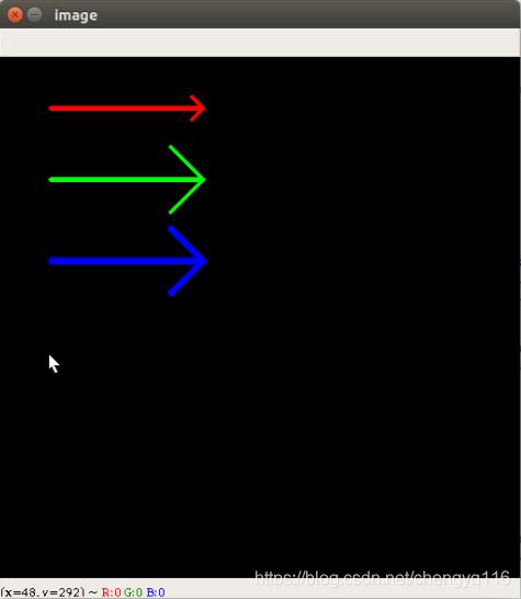 OpenCV 3 drawing arrow - 绘制箭头- 既然选择了远方便只顾风雨兼程