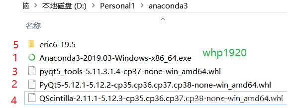 Anaconda Pyqt5