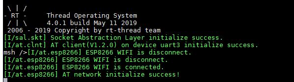 基于RT-Thread的AT device实现ESP8266 通过socket对接OneNET进行