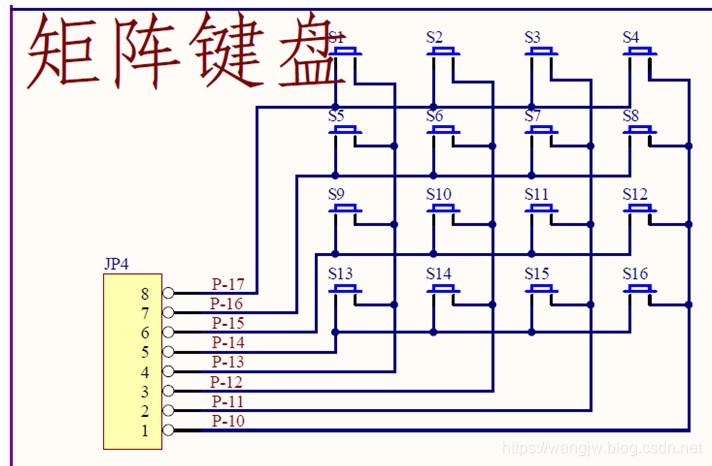 3*4矩陣鍵盤掃描原理_3*4矩陣鍵盤掃描原理
