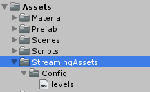 unity 3d android StreamingAssets 目录下读取json配置文件- 笙尽缘无