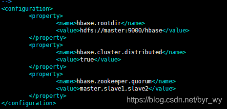 编辑conf下hbase-site.xml