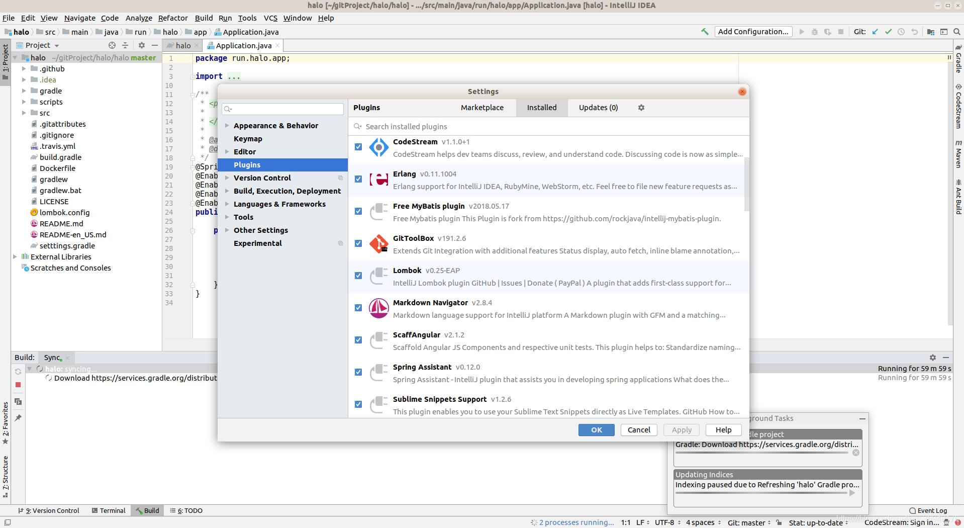 Halo博客系统在IDEA运行时log报错- yorkmass - CSDN博客