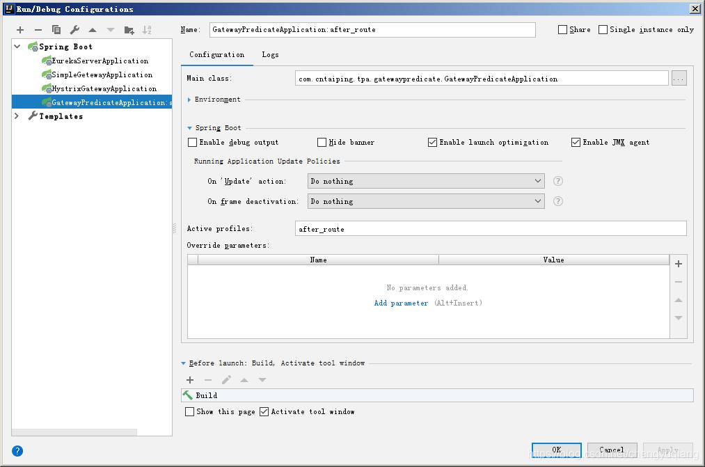 SpringCloud 2 x学习笔记:14、Spring Cloud Gateway路由断言工厂