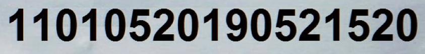 识别出的证件号码区域