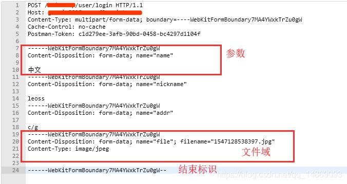 multipart/form-data报文