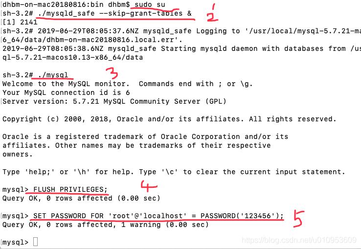 Mac mysql 忘记root 密码,phpmyadmin 登录No such file or directory