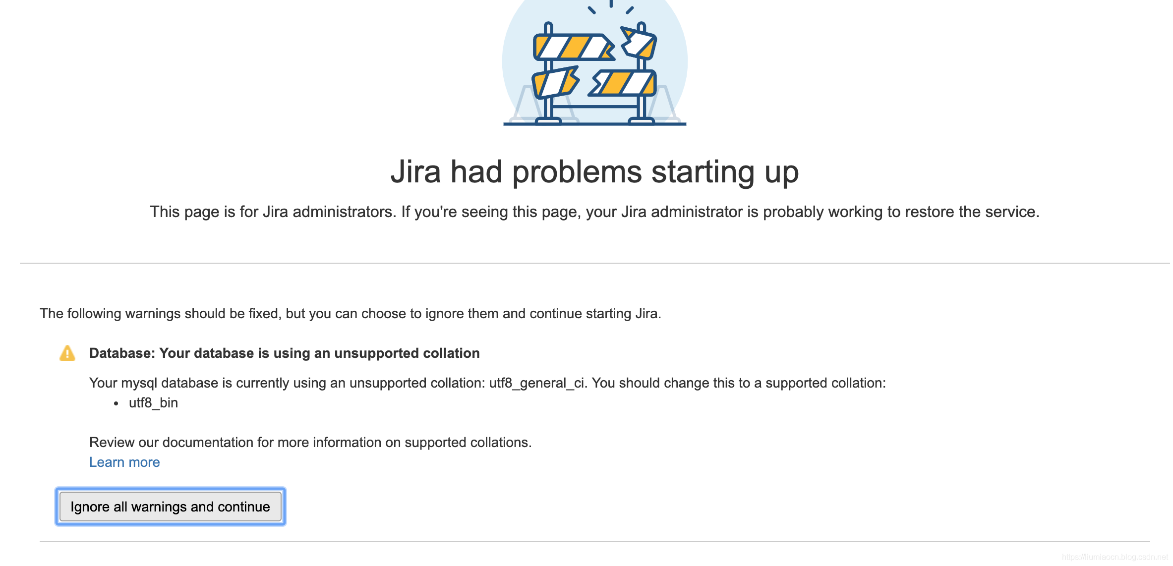 Jira基础:备份恢复时Couldn't connect to your database - 知行
