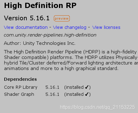 Unity LWRP/HDRP使用体验- Deveuper的博客- CSDN博客