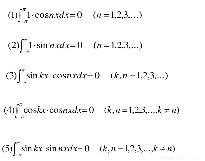 三角函数系的正交性