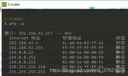 ARP缓存表