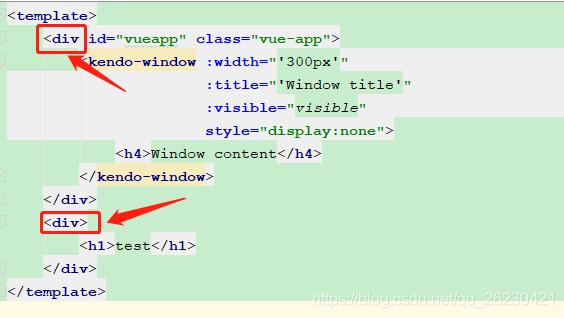 解决Component template should contain exactly one root