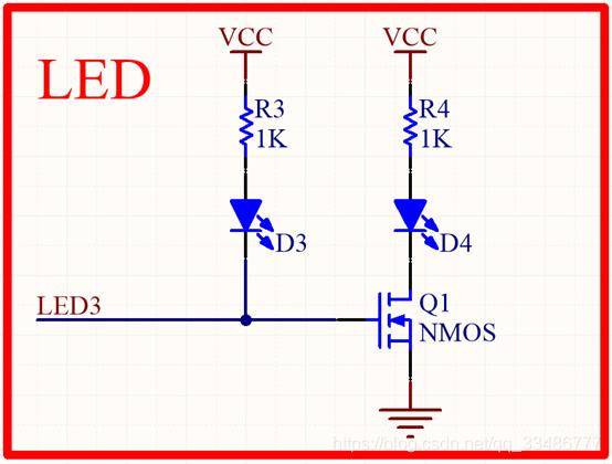 一个IO控制两个LED