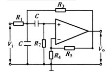 压控电源带通滤波器