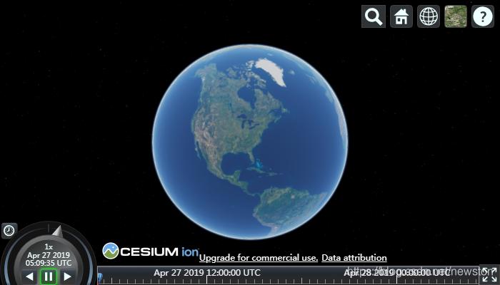CesiumJS默认使用由ion账户提供的Bing底图
