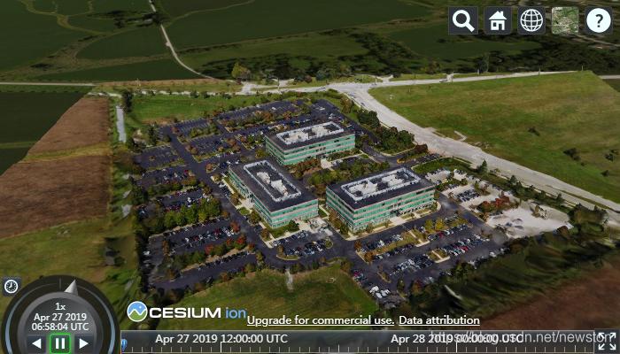 加载到CesiumJS中的3D Tiles asset,与你自己的asset看起来有所不同
