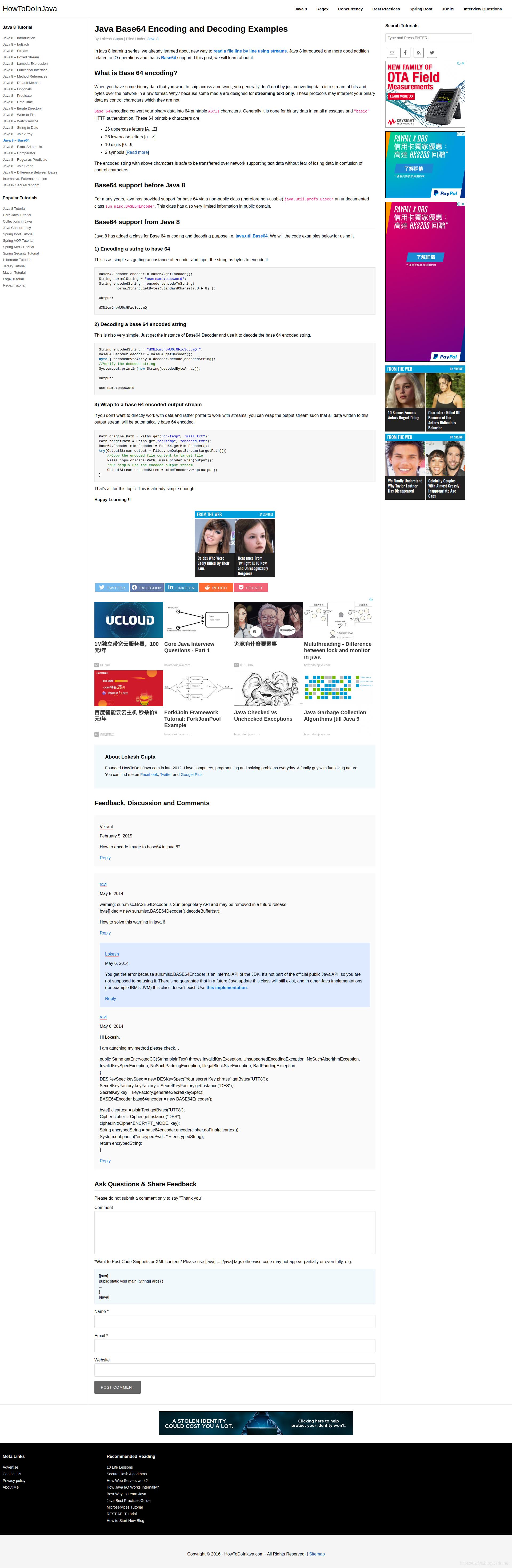 Java Base64 Encoding and Decoding Examples - 在路上- CSDN博客
