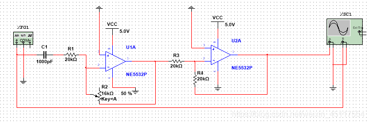 电位器大小的选定根据电路通带增益大小以及带通滤波电路放大倍数进行计算