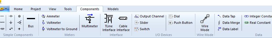 功能区component选项卡