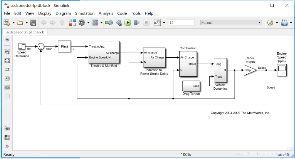 打开一个控制模型示例