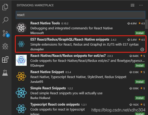 vscode生成react代码块插件