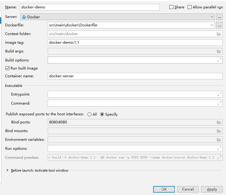 配置Docker远程连接并且使用idea一键部署