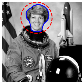 astronaut:Active Contour Mode - Snake