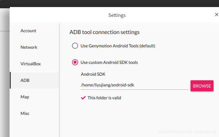 指定Android SDK Tools路径