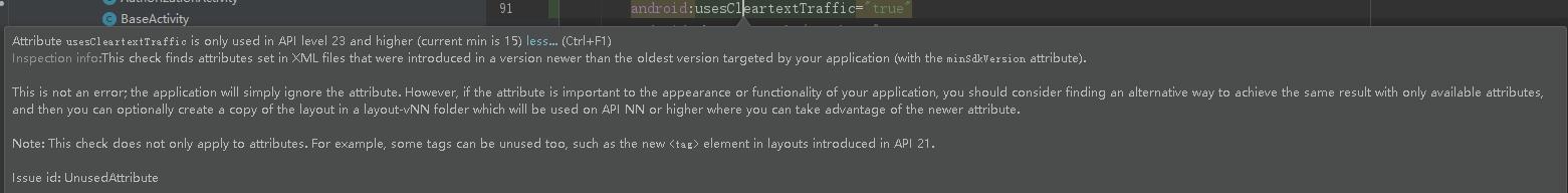 usesCleartextTraffic