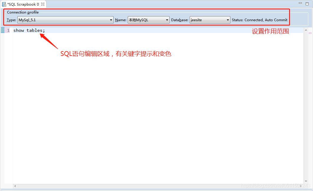 SQL语句编辑区