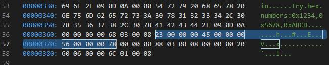bin文件的实际数据