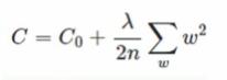 代价函数后增加正则项