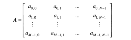 传统矩阵表示