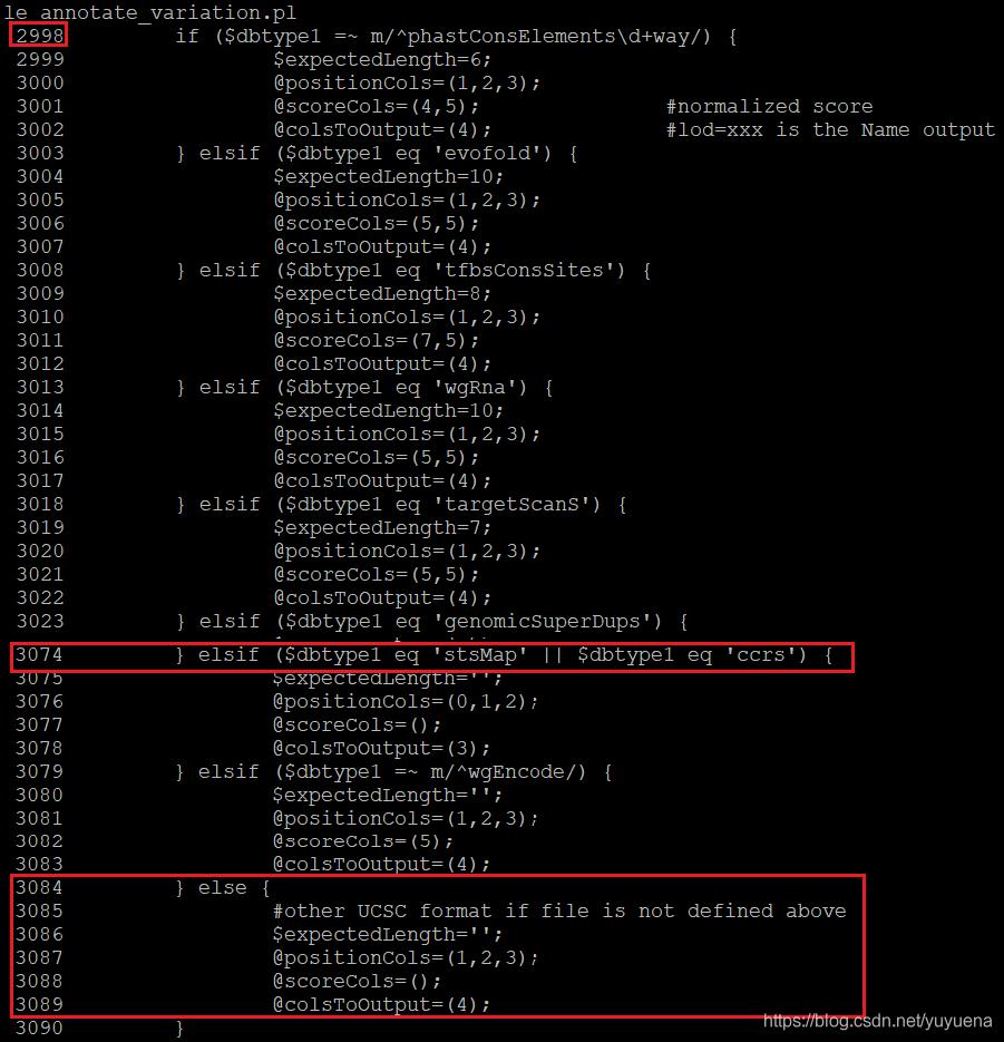 annovar主程序关于dbtype的预设