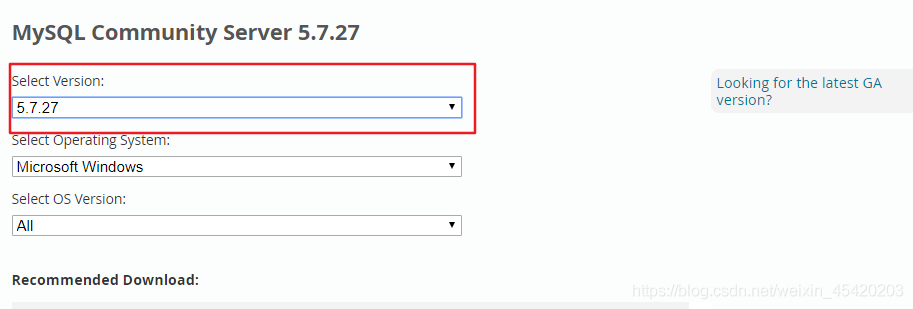 选择5.7.27版本,然后根据自己电脑系统选择32位还是64位以及安装版还解压版下载