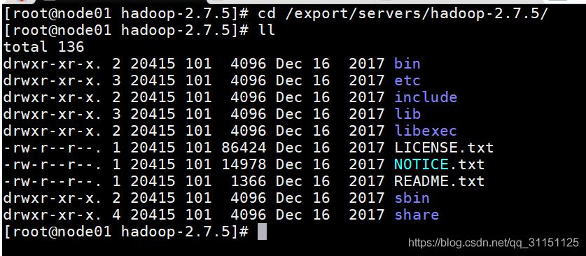 Hadoop目录结构