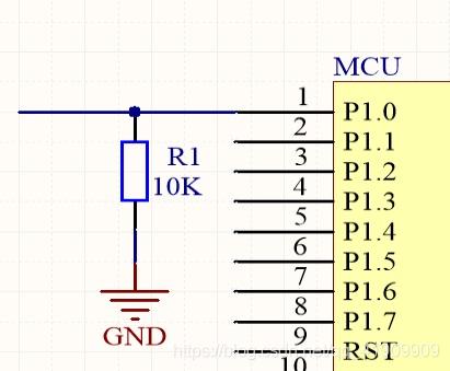 图4.下拉电阻
