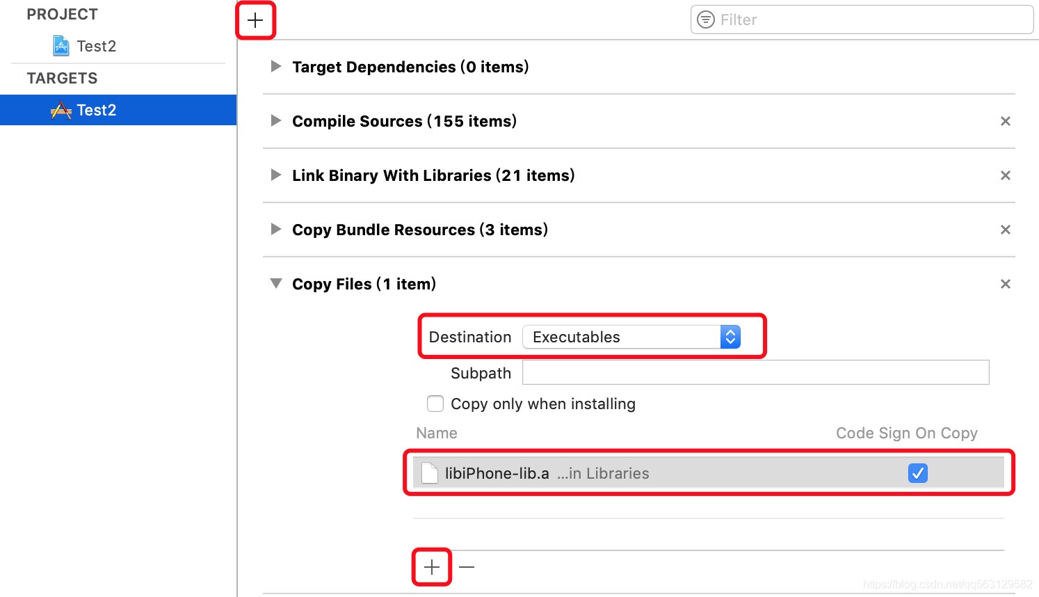 添加libiPhone-lib.a的强引用