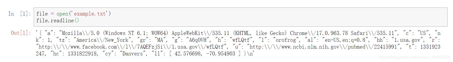 数据格式是JSON