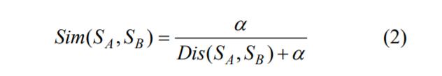 文本相似度与语义距离的关系式