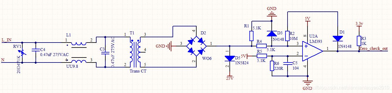 50hz交流电过零检测电路