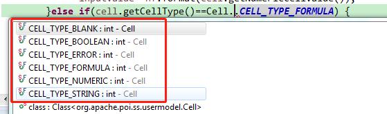 Excel里面的内容类型