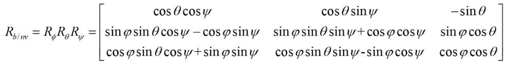 无人机运动学控制中的坐标系,及惯性坐标系与机体坐标系之间的矩阵转换 欧拉角插图(91)