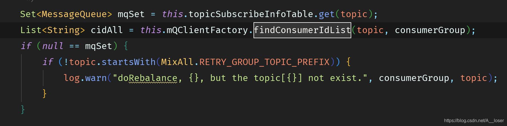 调用客户端获取当前 GroupID 订阅 Topic 的 ClientId