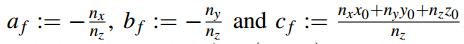 paper 平面方程