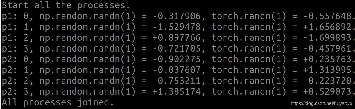 使用np.random.seed()和torch.manual_seed()函数后的输出