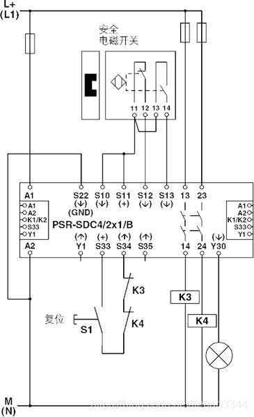 安全继电器连接原理