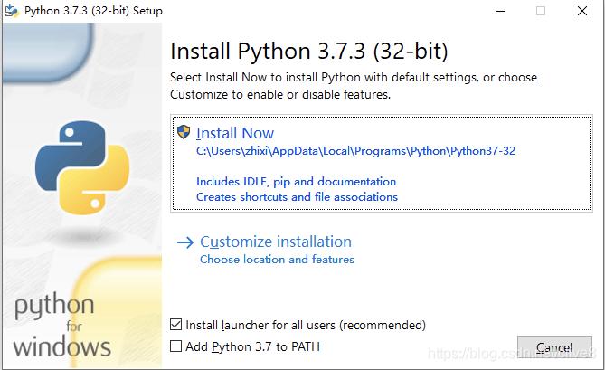 [外链图片转存失败,源站可能有防盗链机制,建议将图片保存下来直接上传(img-pKxLACGz-1572510176968)(Windows系统Python解释器的安装配置/1554194878760.png)]